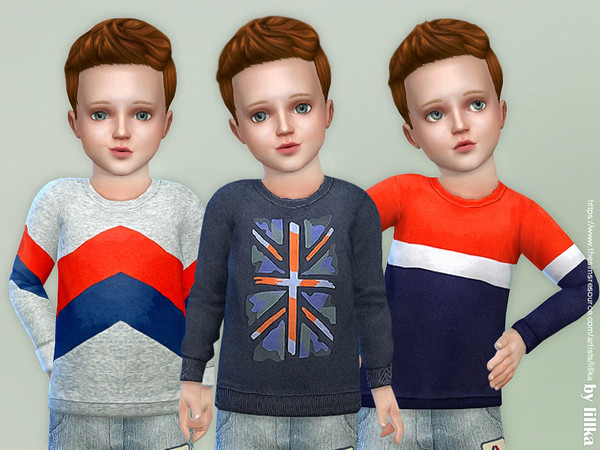 Sims 4 Leisure Sweatshirt for Toddler by lillka at TSR