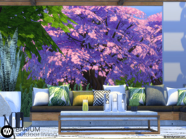 Barium Outdoor Living by wondymoon at TSR image 2512 Sims 4 Updates