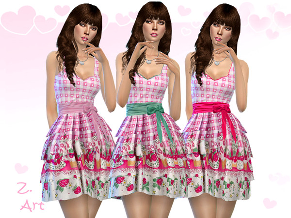 Sims 4 DreamZ 05 romantic dress by Zuckerschnute20 at TSR