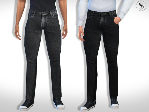 Sims 4 Men Slim Fit Jeans by Saliwa at TSR