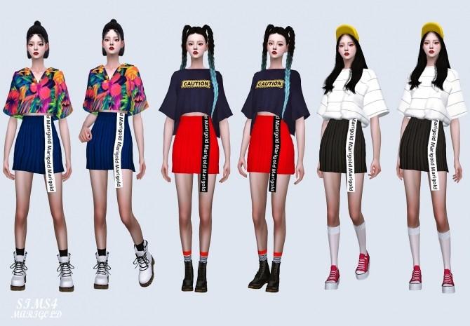 Sims 4 Line Mini Skirt at Marigold