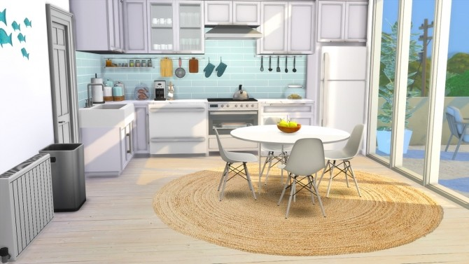 Sims 4 Kitchen   Beach House at MODELSIMS4