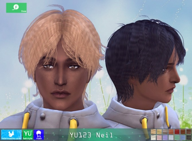 YU123 Neil hair M at Newsea Sims 4 image 2591 670x491 Sims 4 Updates