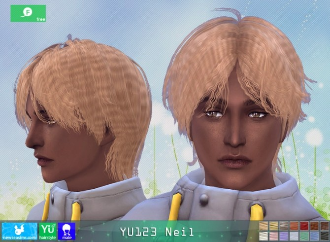 YU123 Neil hair M at Newsea Sims 4 image 2601 670x491 Sims 4 Updates