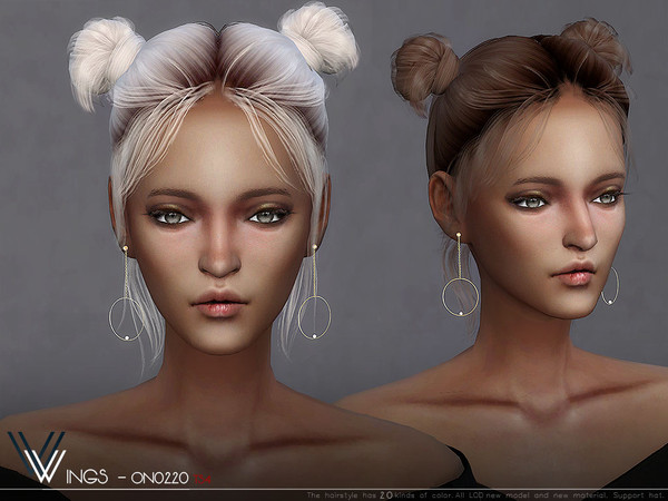 Sims 4 WINGS ON0220 hair by wingssims at TSR