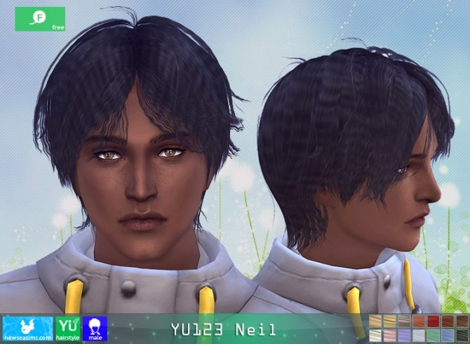 YU123 Neil hair M at Newsea Sims 4 image 2612 670x491 Sims 4 Updates