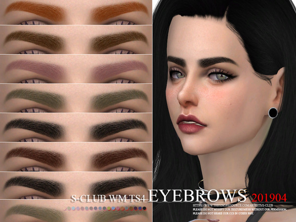 Sims 4 Eyebrows 201904 by S Club WM at TSR