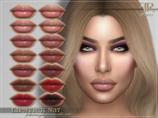 Sims 4 FRS Lipstick N37 by FashionRoyaltySims at TSR