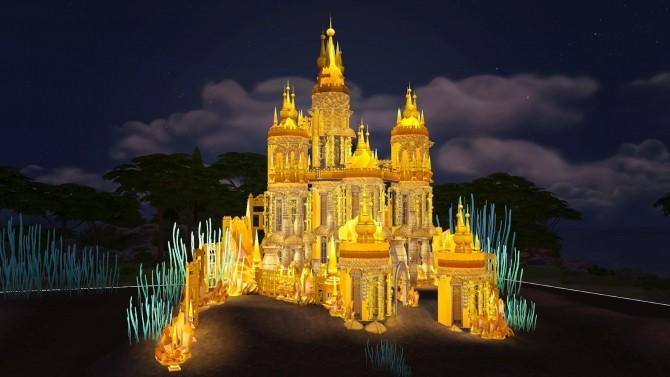 Sims 4 Ariel Underwater Castle at Akai Sims – kaibellvert