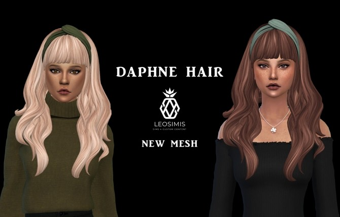 Sims 4 Daphne hair (P) at Leo Sims