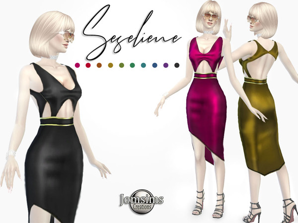 Seseliene dress by jomsims at TSR image 277 Sims 4 Updates