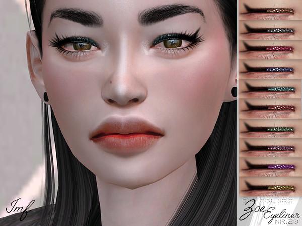 Sims 4 IMF Zoe Eyeliner N.29 by IzzieMcFire at TSR