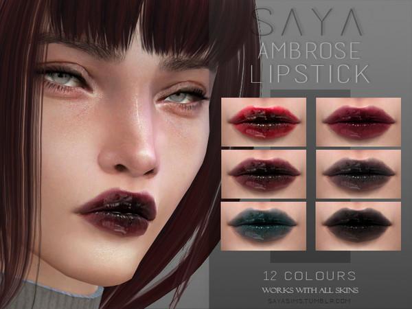 Sims 4 Ambrose Lipstick by SayaSims at TSR