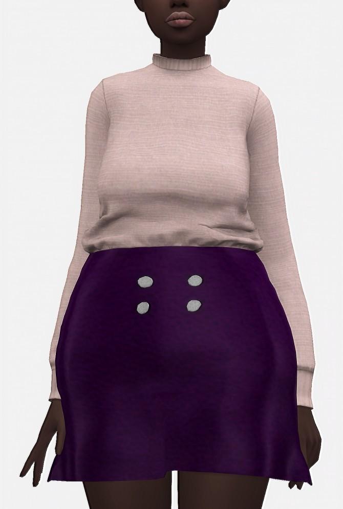 Jumper and leather skirt at Nyuska image 2911 670x995 Sims 4 Updates