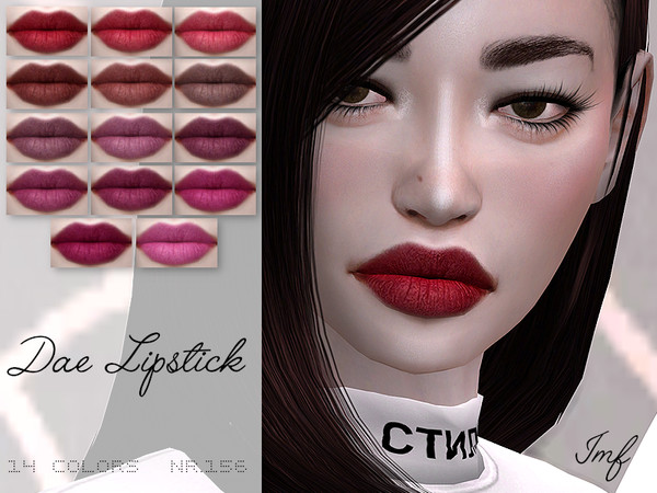 Sims 4 IMF Dae Lipstick N.156 by IzzieMcFire at TSR