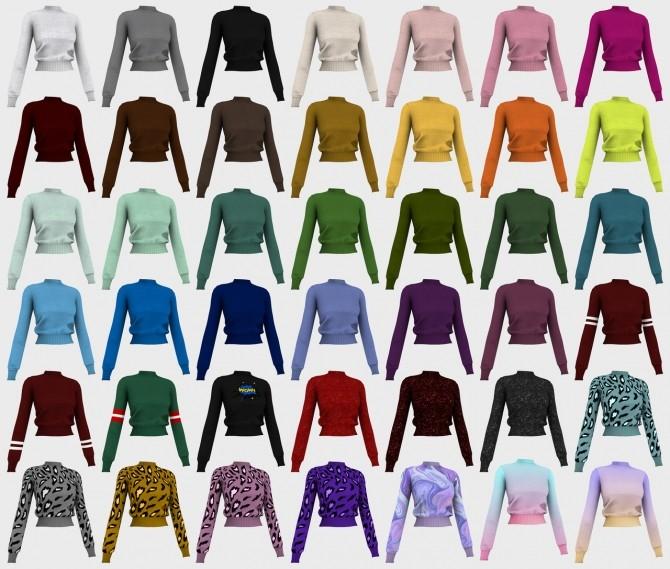 Jumper and leather skirt at Nyuska image 2921 670x569 Sims 4 Updates