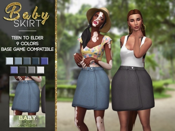 Sims 4 Baby skirt at Candy Sims 4
