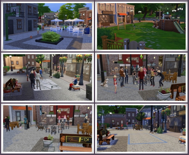 Sims 4 Street Cafe Willow Creek at Birksches Sims Blog