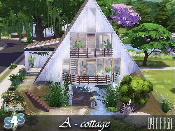 Sims 4 A frame cottage at Aifirsa