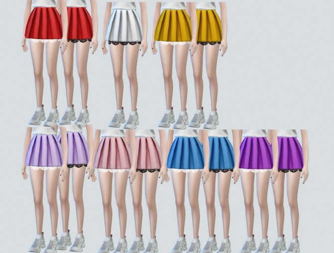 Lace Pleats Skirts at NEWEN image 3221 670x508 Sims 4 Updates