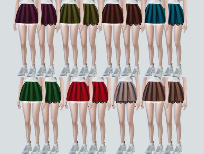 Lace Pleats Skirts at NEWEN image 3231 670x507 Sims 4 Updates