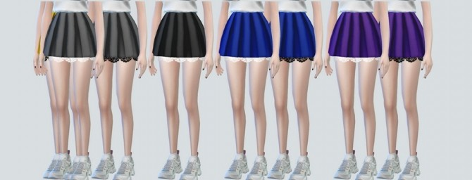Lace Pleats Skirts at NEWEN image 3241 670x256 Sims 4 Updates