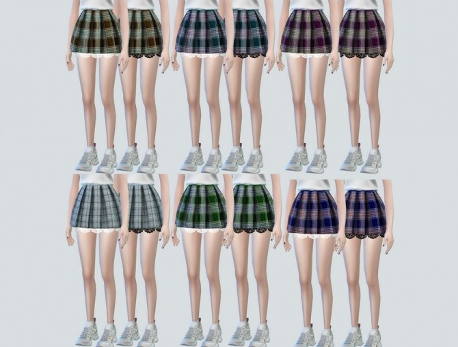Lace Pleats Skirts at NEWEN image 3251 670x507 Sims 4 Updates