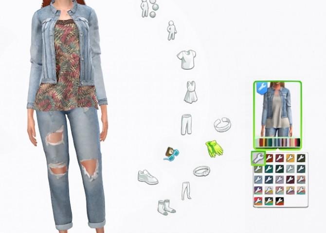 Denim jacket at LazyEyelids image 3321 670x478 Sims 4 Updates