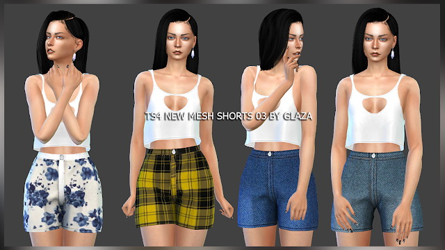 Sims 4 Shorts 03 at All by Glaza