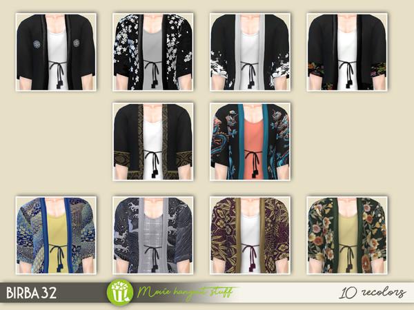 Sims 4 Kimono Jacket Set 1 by Birba32 at TSR