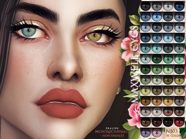 Sims 4 Maxwell Eyes N103 HETEROCHROMIA by Pralinesims at TSR