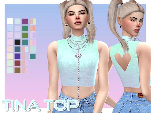 Sims 4 Tina Top by aesthetic sims4 at TSR