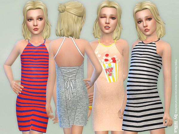 Sims 4 Lara Dress for Girls by lillka at TSR