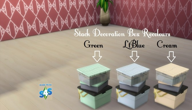 Sims 4 The Attic Stack Decoration Box 20 Colours by wendy35pearly at Mod The Sims