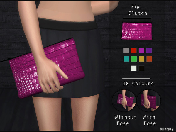 Sims 4 Zip Clutch by OranosTR at TSR