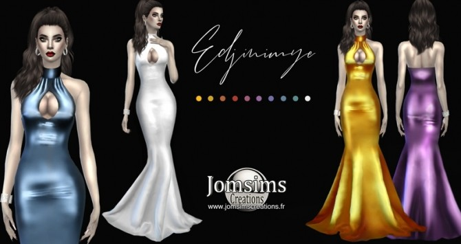 Sims 4 Edjinimye dress at Jomsims Creations