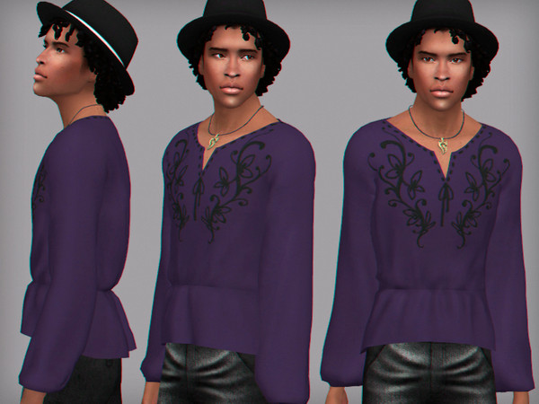 Sims 4 Spring gaze male shirt by WistfulCastle at TSR