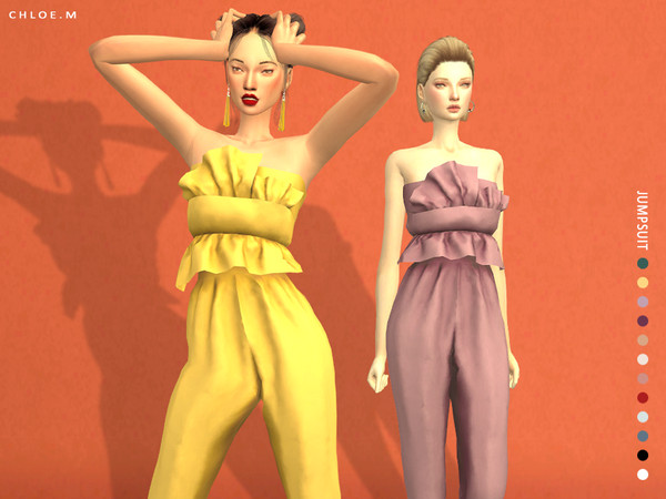 Sims 4 Jumpsuit by ChloeMMM at TSR