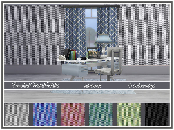 Sims 4 Punched Metal Walls by marcorse at TSR