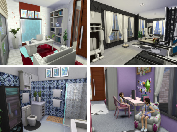 Sims 4 Whitewater house No CC by lenabubbles82 at TSR