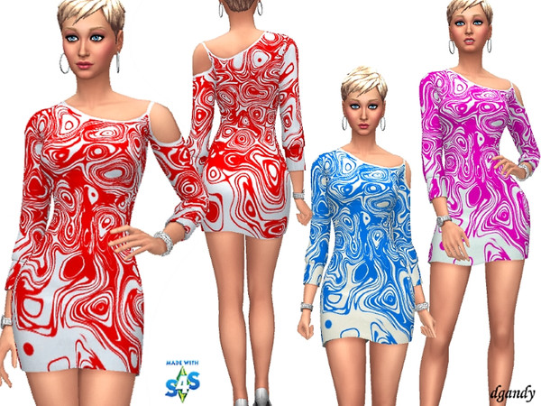Sims 4 Dress 201902 10 by dgandy at TSR