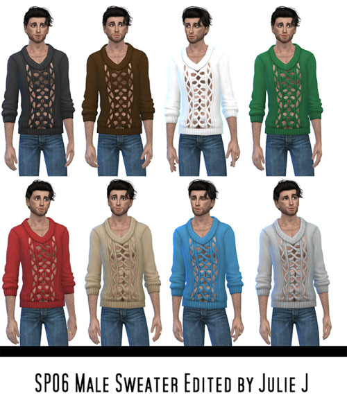 Male SP06 Sweater Edited at Julietoon – Julie J image 3851 Sims 4 Updates
