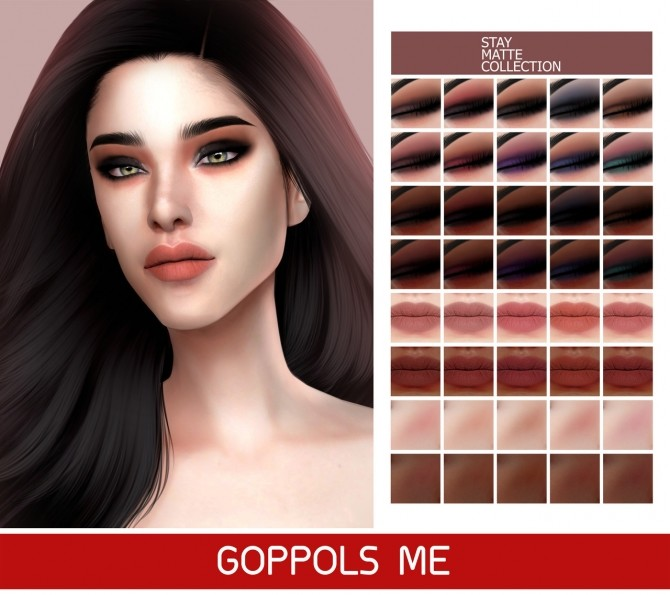 Sims 4 GPME GOLD Stay Matte Collection at GOPPOLS Me