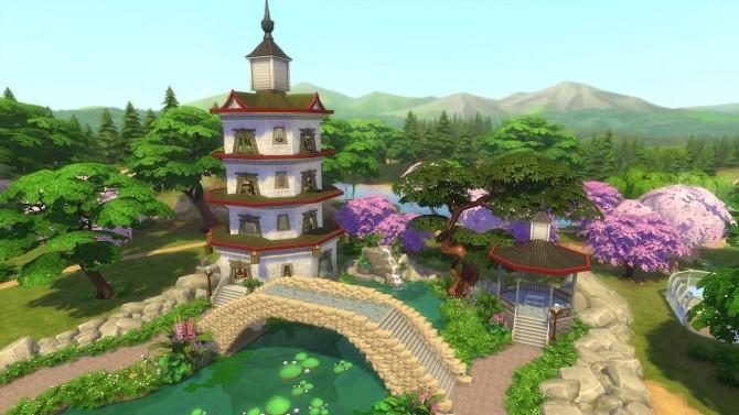 Sims 4 Shi Shi Chinese garden No CC by Oo NURSE oO at Mod The Sims