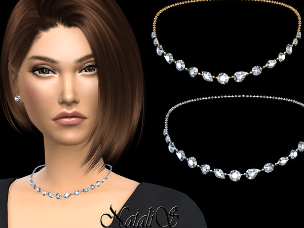 Sims 4 Dazzling gems necklace v2 by NataliS at TSR