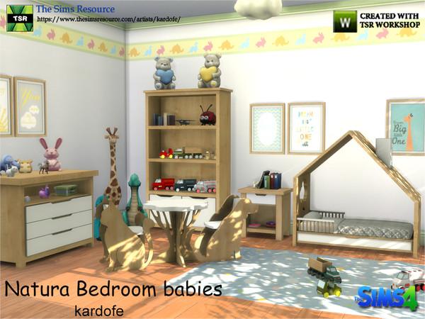 Sims 4 Natura Bedroom Babies by kardofe at TSR