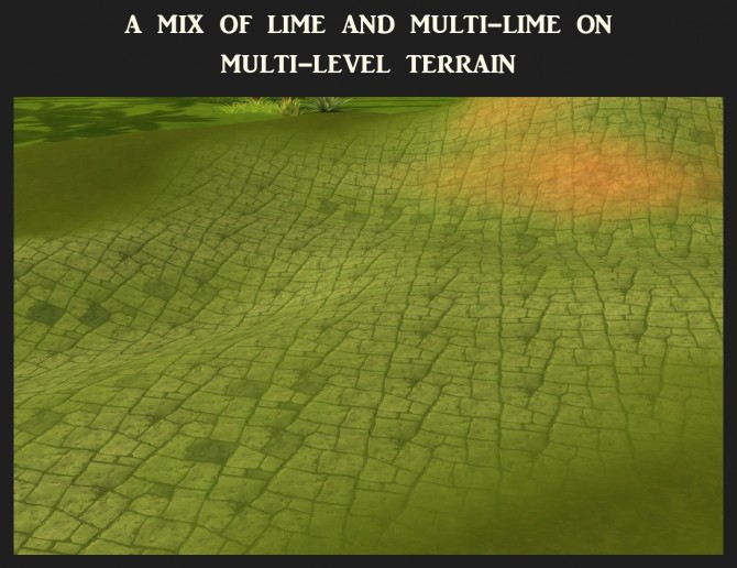 Sims 4 Desert Pavers Terrain 41 Recolours by Simmiller at Mod The Sims