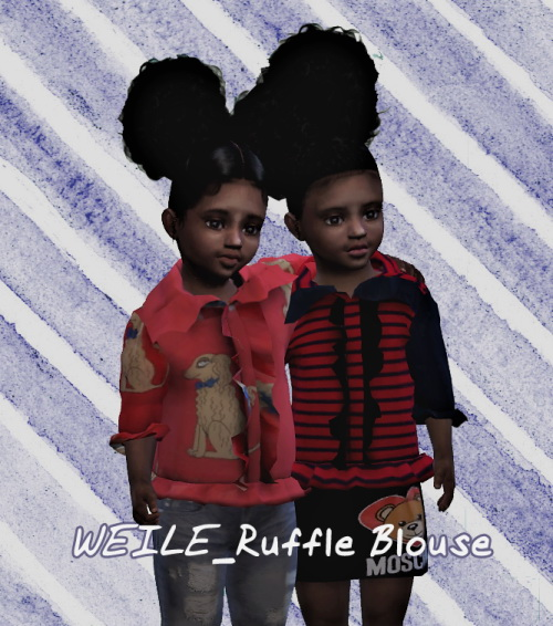 Sims 4 Ruffle Blouse at Weile