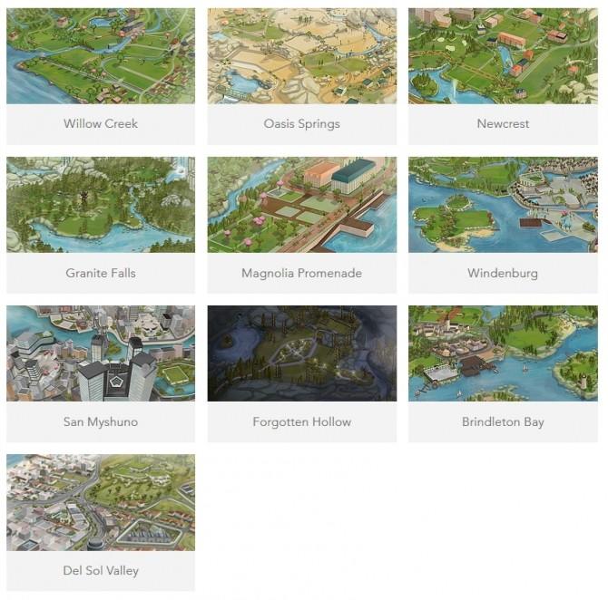 Sims 4 Fanart Maps by NoirSims & DerShayan
