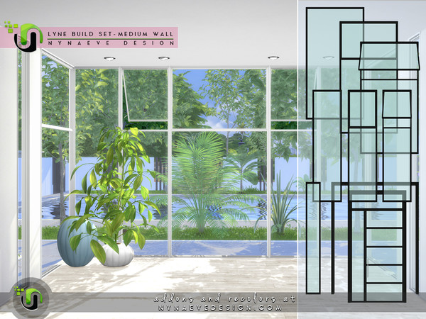 Sims 4 Lyne Build Set II Medium Walls by NynaeveDesign at TSR